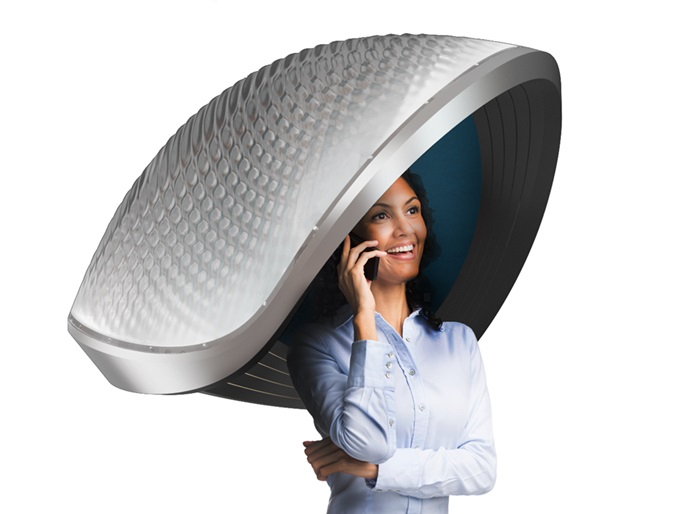 Silentium's Comfort Shell is a modern Cone of Silence