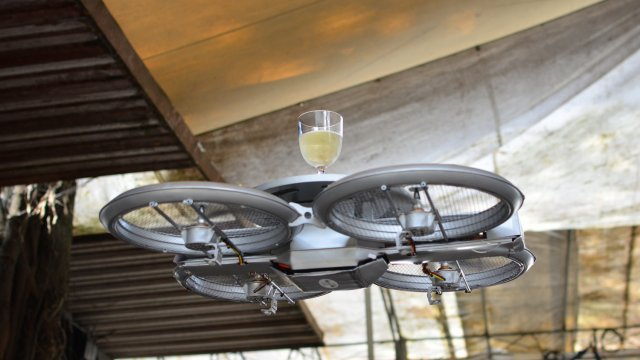 Drones to act as robotic waiters