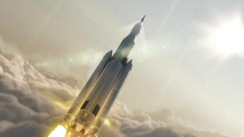 Artist's concept of NASA's new Space Launch System (SLS), which is set to be central to fulfilling some of the objectives laid out in the 2015 Technology Roadmaps.