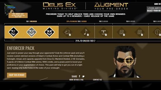 Deus Ex: Mankind Divided Augment Your Pre-Order