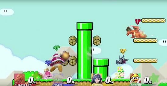 Super Smash Bros Super Mario Maker Stage