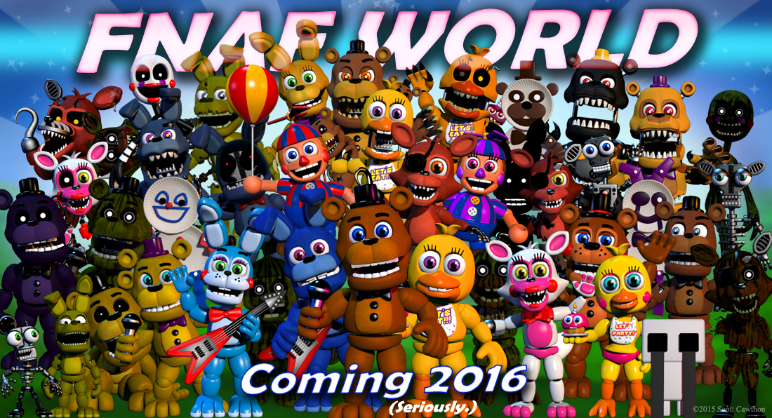 FNAF World Five Nights At Freddy's Spin-off