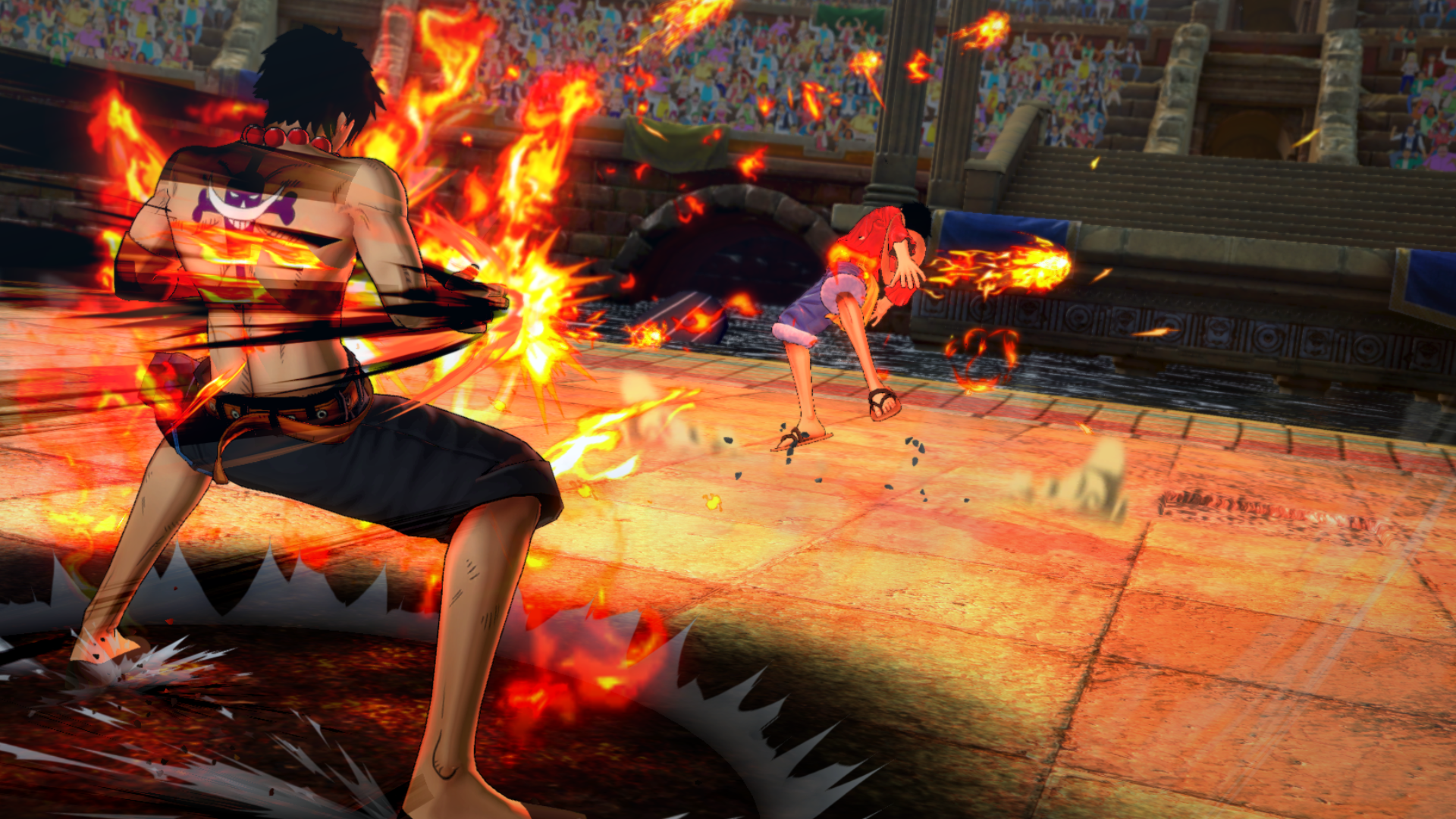 One Piece Burning Blood New Screenshots Showcase Luffy Sabo Ace Sony Ps4 Law And More