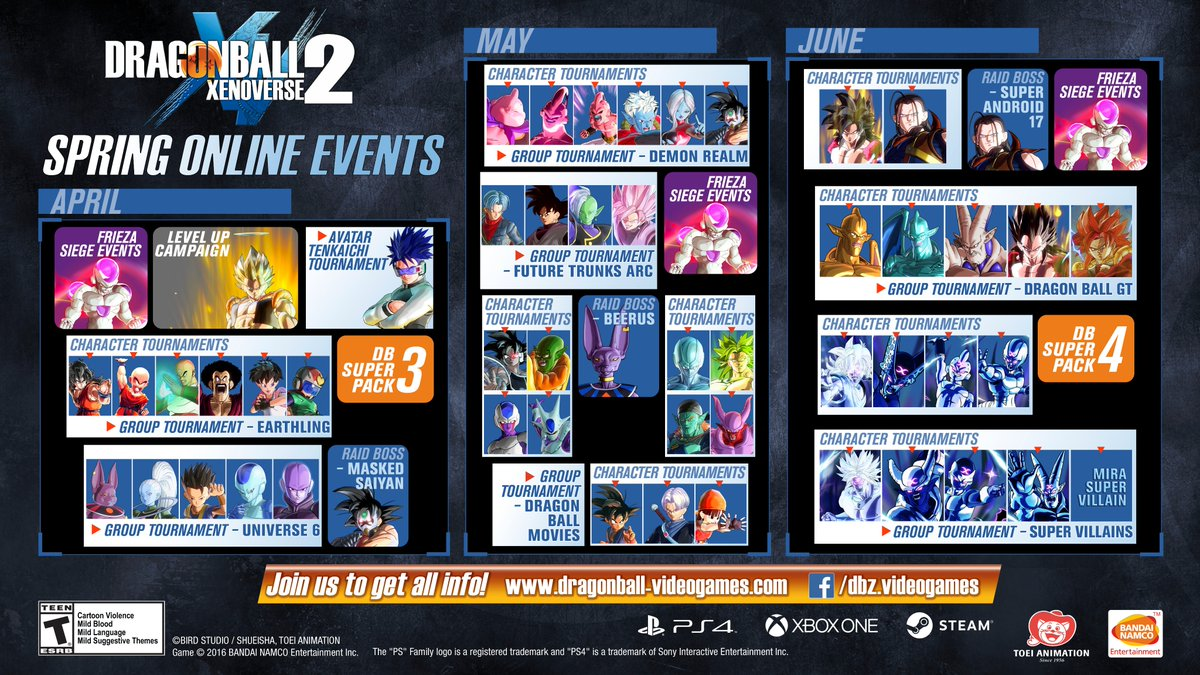 Dragon Ball Xenoverse 2 Reveals Online Events and DLC for the Next Three Months
