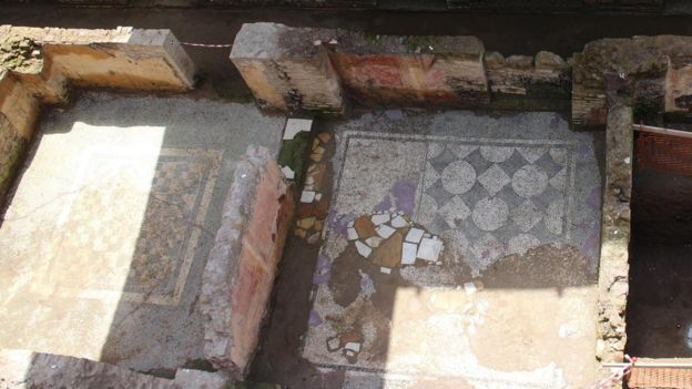Mosaics uncovered during Amba Aradam metro excavation