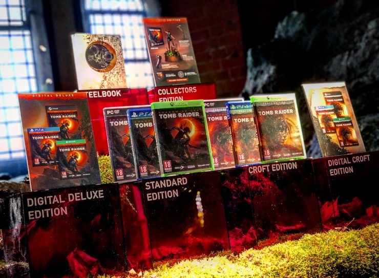 Shadow of the Tomb Raider editions and box art