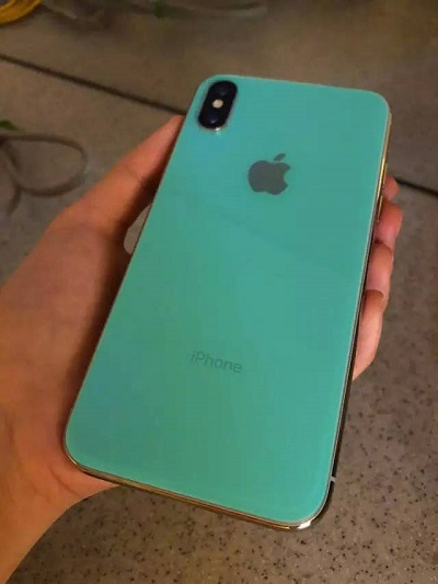 iPhone X prototype leaked successor green