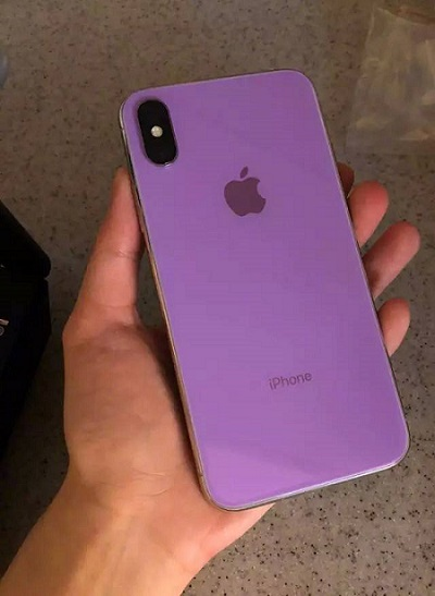 iPhone X successor purple leaked prototype