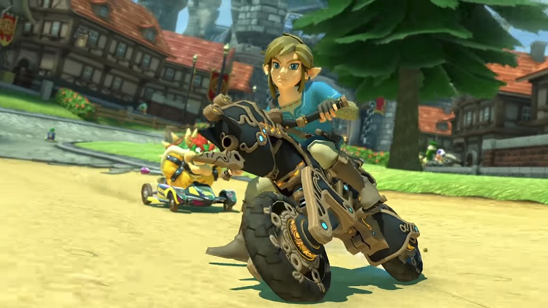 Mario Kart 8 Deluxe Getting Breath Of The Wild Cycle