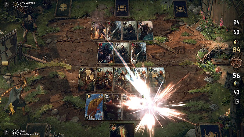 Thronebreaker The Witcher Tales PS4 card battle