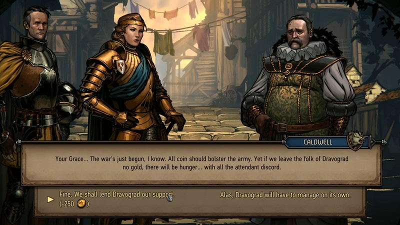 Thronebreaker The Witcher Tales PS4 decisions