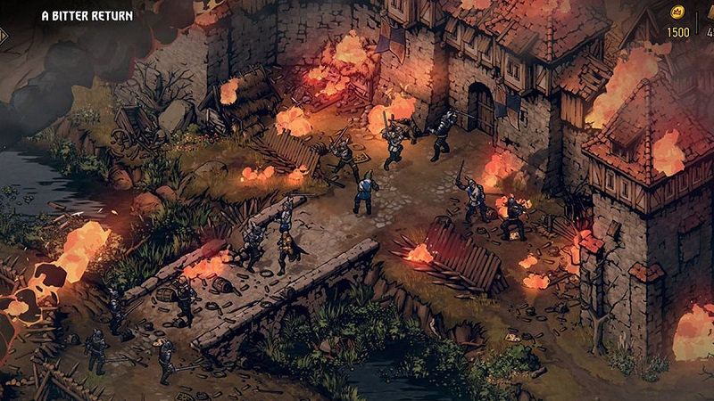 Thronebreaker Witcher Tales PS4 over world