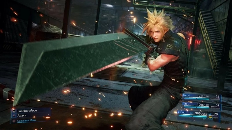 Final Fantasy 7 Remake Cloud Battle
