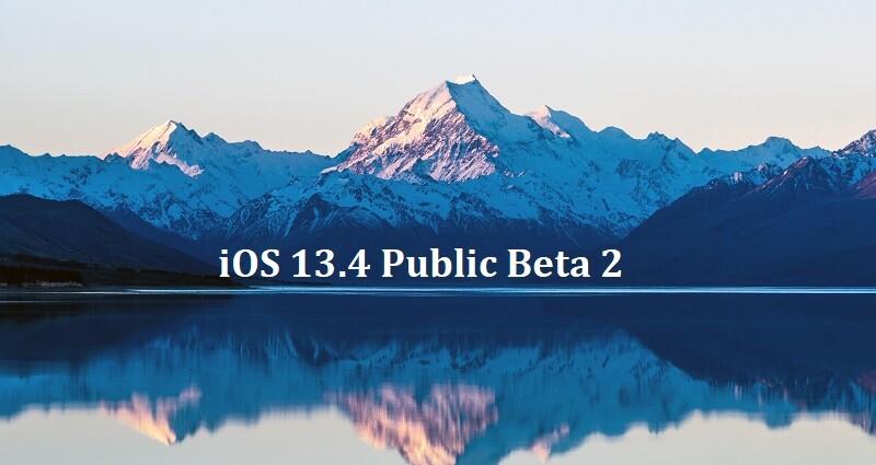 iOS 13.4 public beta 2